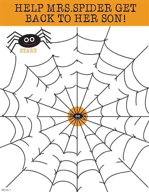 Printable Spider Web Maze