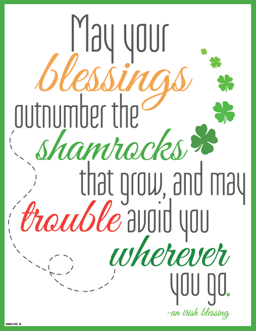 Printable Saint Patrick's Day Wall Sign