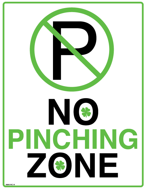 Printable No Pinching Sign