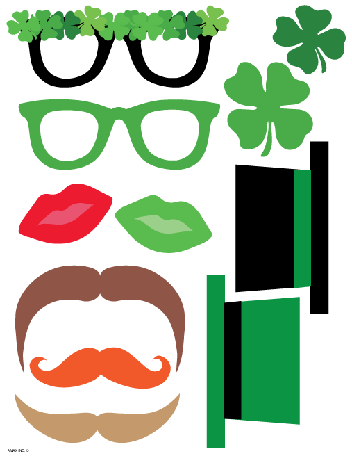 Printable Saint Patrick's Day Photo Props