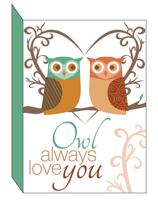 Printable Owl Valentine
