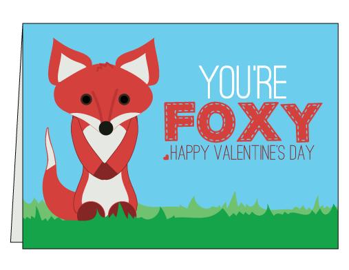 Printable Fox Valentine