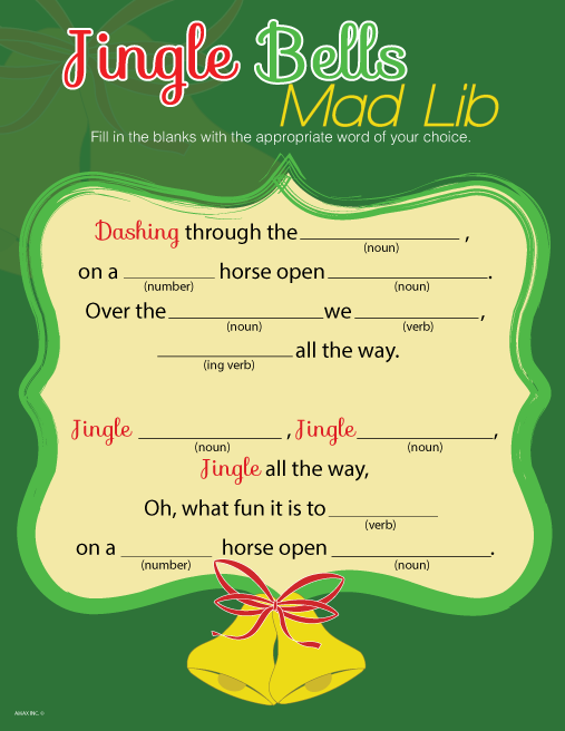 Christmas Mad Lib Printable