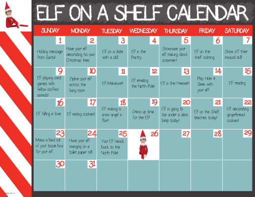 Elf on a Shelf Printable