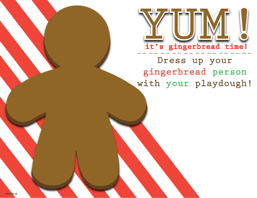 Gingerbread Man Playdough Mat