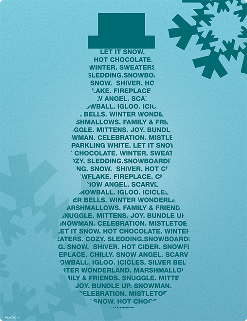 Snowman Poster Printable
