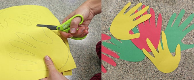 Cut Out Traced Hands