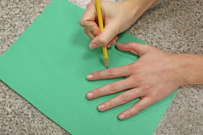 Trace Your Hand on Construction Paper
