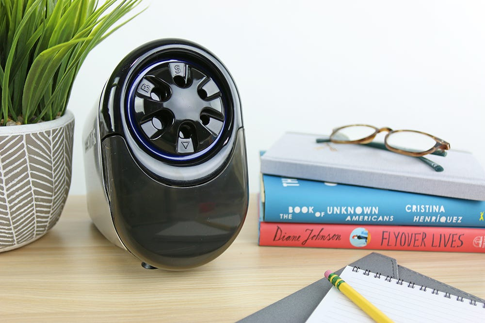 QuietSharp™ Glow Classroom Electric Pencil Sharpener for Heavy Use