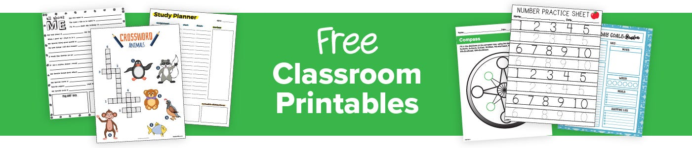 Teach From Anywhere with Free Printables from Bostitch Office